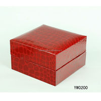 Red luxury pu watch boxes
