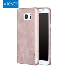 X-Level Hot Sale PU Leather Vintage High Quality Hand Made Caring Cell Phone Case for Samsung Note 5 Wholesale