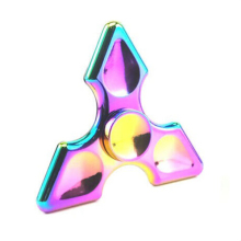 Rainbow Metal Tri Fidget Spinners Fidget Spinner Toy Hand Spinner brass EDC for antistress