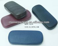 FGX Wlamart gold supplier eyeglasses cover, leather eyewear case,personalized glasses case