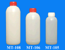 500 ml. 860 ml. and 1 lt.Hdpe Plastic Round Bottle-38 mm. tamper evident cap