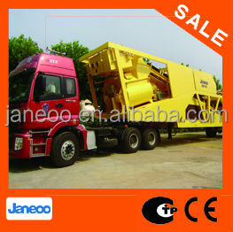 YHZS75 (75m3/h)High quality China made CE certified portable mini mobile concrete mixing plant and mobile concrete mixer