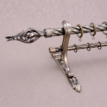 Hot Sale Metal Copper Curtain Rod Set Accessories Finials