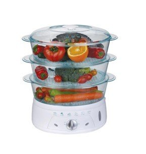 650W plastic 3 Layers 4.5L Electric Food Steamer with CE /ROHS /SASO