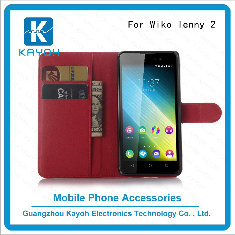 [kayoh]For wiko lenny 2 cheap price phone case maker PU Leather cell phone case
