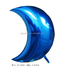 2015 hot sale moon shape foil balloon for Valentine's Day ,party /weeding Party/ flower shape balloon