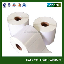 custom size blank roll label for inkjet printer
