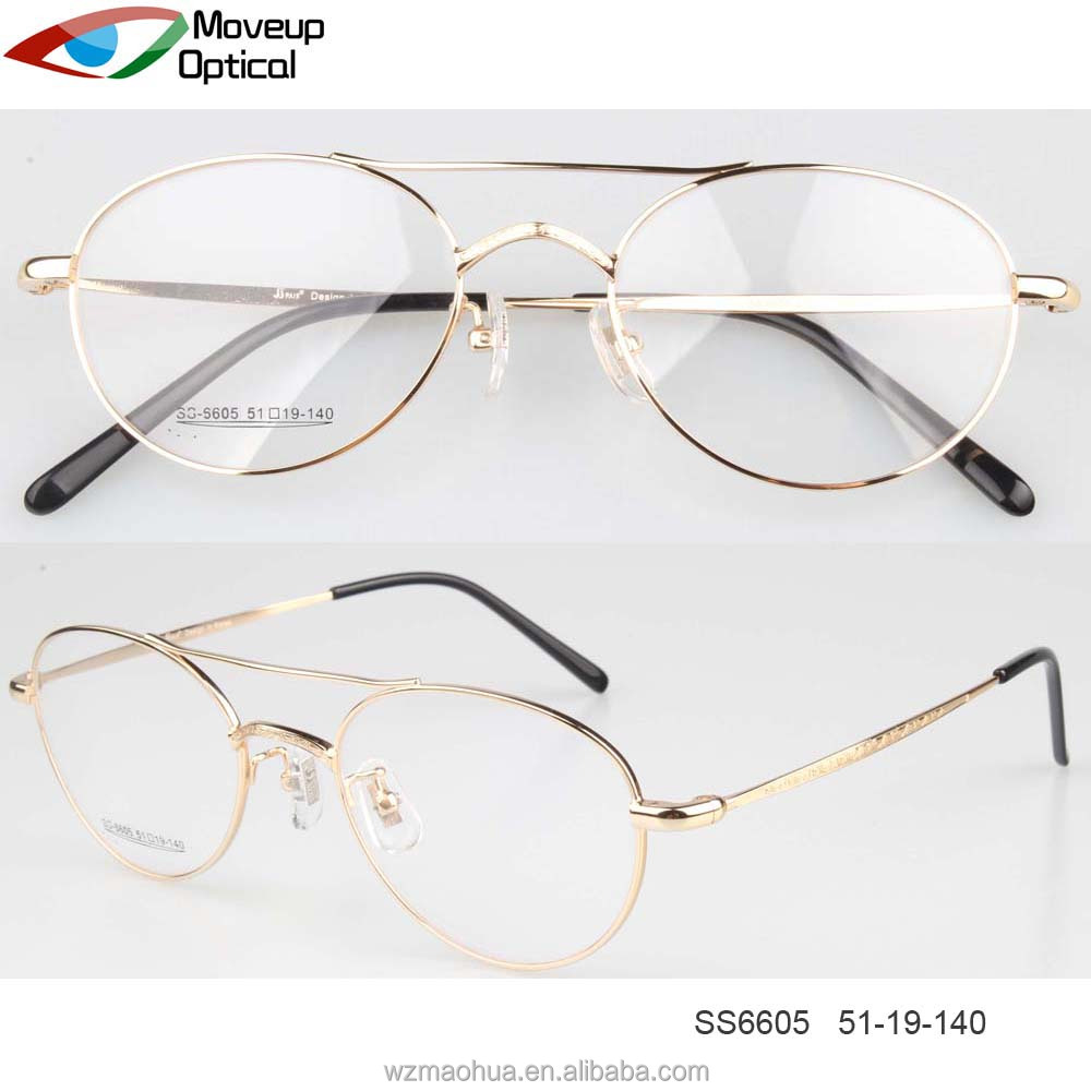 vintage style double bridge gold metal optical glasses eyewear,eyewear manufacturing equipment