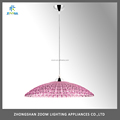 Best selling low price E27 pink color acrylic pendant lamp for dining room