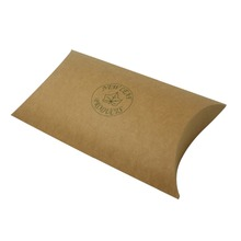 China Personal Custom Made Brown Kraft Paper Pillow Box for Soap
