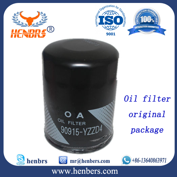 wholesaleauto mobile oil filter 90915-YZZD4 with original packing for toyota spare parts