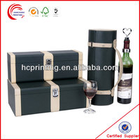 paper & leather & wooden wine tin boxes for wine wholesale