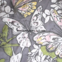 Printed imitated silk 100% polyester chiffon fabric for garment