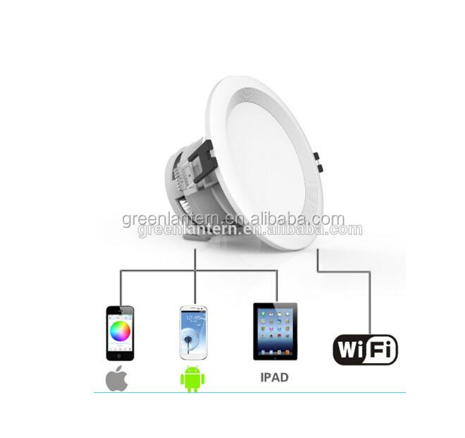 Manufactuer 9W Led Ceiling Light RGBW Wifi Led Down light Recessed Smart Led DownLight CE&RoHS