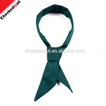 cheap neckerchief waitress neckerchief,plain cotton kitchen clothing dark green scarf