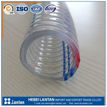 manufacturer large diameter flexible steel wire reinforced pvc hose pipe