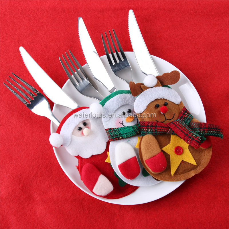 6Pcs/lot <strong>Christmas</strong> Decorations 2016 Silverware Holdersanta Pockets Dinner Decor Knife Fork Holders Santa Claus Merry <strong>Christmas</strong>