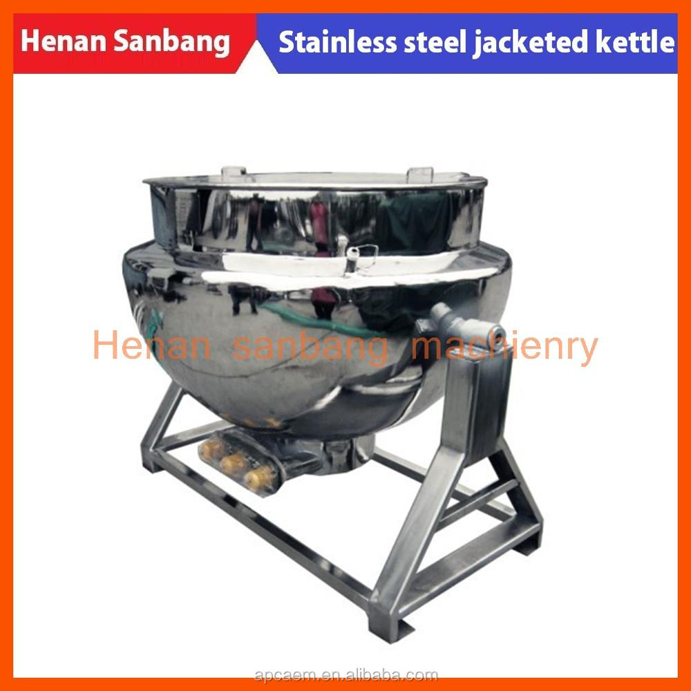 300L stainless steel electric steam heating tilting cooking jacket kettle