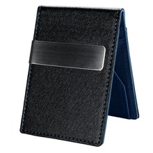 New Fashion Korean Style High Quality Men Mini Money Wallet With Clip