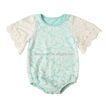 Wholesale cotton vintage lace baby rompers