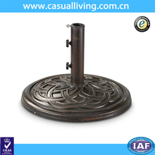 "22"" Round Beach Umbrella Base Stand Market Patio Yard Outdoor Heavy Duty Umbrella Holder Base Cast Stone"
