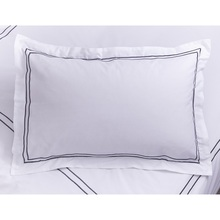 White Standard Size 100% Cotton Embroidery Bedding Pillowcase/Pillowcover