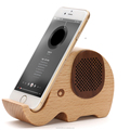 Fancy wooden phone case rack bluetooth speaker wood