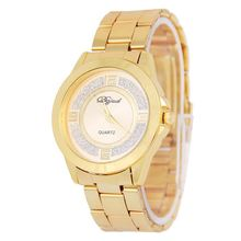 3ATM waterproof japanese movement stainless steel quartz watch,crystal geneva watch for women