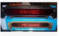 7*50 DC12V Red color remote controlling LED moving programming sign with plastic frame