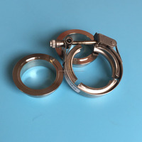 Stainless Steel Quick Release V Band Clamp with Male & Female Flanges