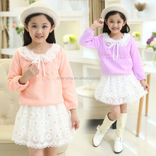 2016 OEM latest children fashion dress designs embroidered baby girl's dress