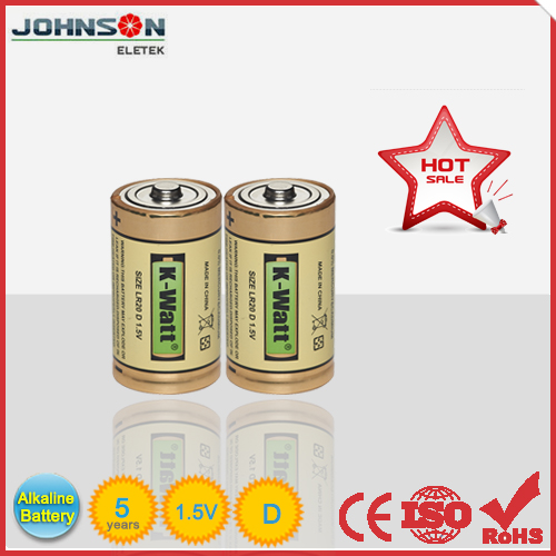 Zn/MnO2 Longest Lasting Alkaline D Battery LR20 Alkaline Battery 1.5V D