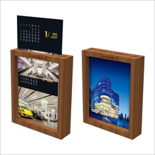 Slip-in double sides wood shadow box picture photo frame