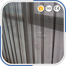 Black steel fireproof wire mesh/fireplace mesh