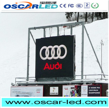 double side P3.91 mm led pylon sign Oscarled with low price