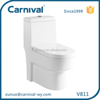 Restroom sanitary dual flush one piece toilet V811