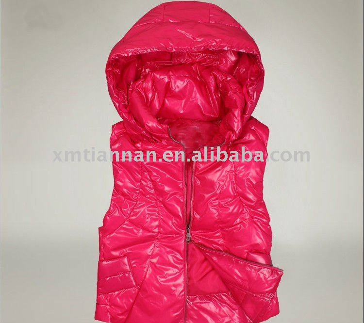 Girl Sleeveless Vest With Zipper Body Warmer 2013