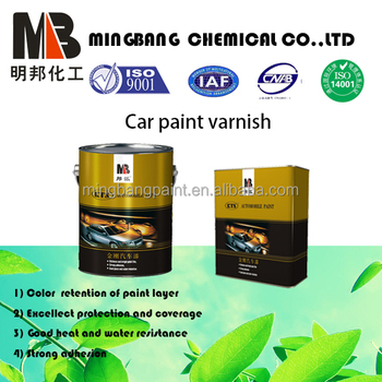 Fast dry acrylic 2k clear coat automotive paint protection
