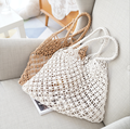 Super fire bag portable fishing net knitting bag new straw weaving holiday beach bag