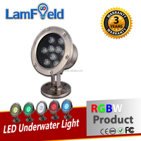 Low Voltage Input DMX512 Control 15W LED RGBW Underwater Light For Pool Aquarium Lighting