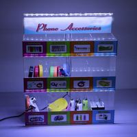 Makeup pop display, sweet acrylic cosmetic display stand with LED