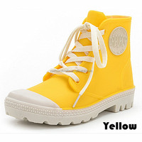 Wholesale china fashionflat women ankle pvc rain boot women shoes