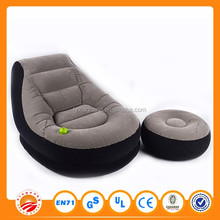 Hot sale outdoor and indoor air filled inflatable sofa furniture, self inflating inflatable chair sofa from