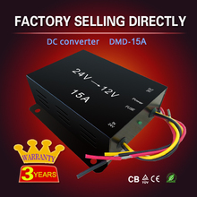 Factory hot selling 5A 10A 15A step down power dc/dc converter 24v to 12v for car bus truck