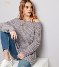Autumn wide-neck pullover woman sweater 2017