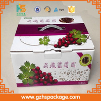Full color corrugated box for grapes packing/fruit packaging box