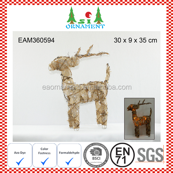 Christmas reindeer table stand ornament with led light