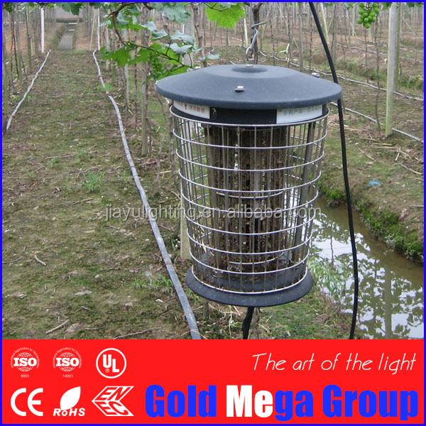 Large outdoor Greece Solar powered UV Bug Zapper, Farm orchard Insect Killer & LED Garden Lamp