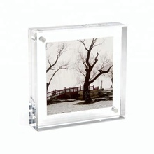 Desktop Clear Acrylic Magnetic Photo Frame Lucite Picture Frame for a gift