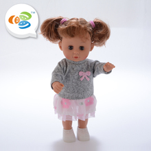 Cheng hai factory 12 inch sound lifelike reborn baby children dolls with cheap price